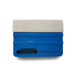 CONECT H/DUTY FELT TIP 4 BLUE SQUEEGEE